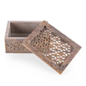 Hand Carved Keepsake Box