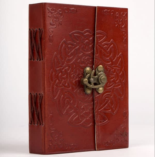 Hand Crafted Leather Infinity Knot Journal