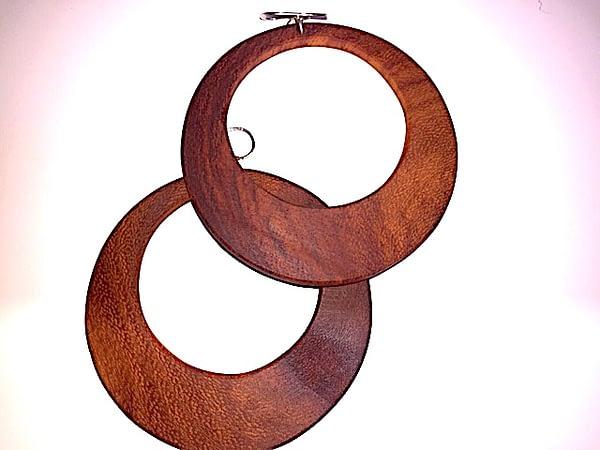 wooden hoop earring