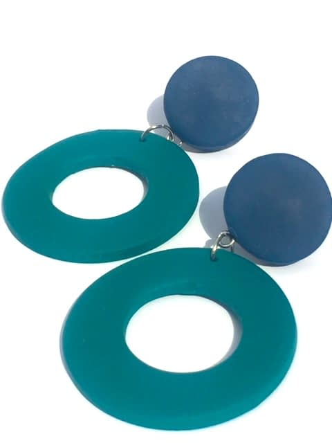 clay hoop earrings
