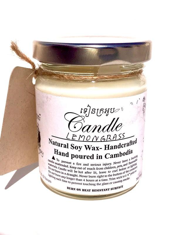 natural lemongrass candle