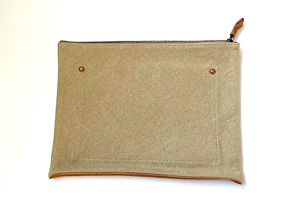 Leather Base Canvas Case