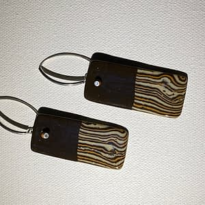 hand crafted ceramic earrings